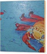 Crabs Wood Print