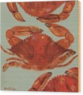 Crabs Tonight Wood Print