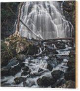 Crabtree Falls Wood Print