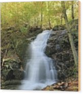 Crabtree Falls In The Fall Wood Print