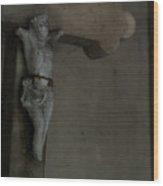 Cracked Actor Wood Print