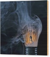 Cracked Bulb Wood Print
