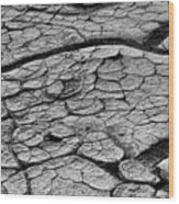 Cracked Earth Wood Print