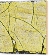 Cracked Yellow Paint Wood Print