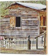 Cracker Cabin Wood Print