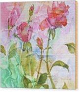 Cracklin' Rose Wood Print