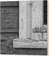 Cracks Of Time Bw  Wood Print