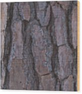 Cracks Of Time Wood Print