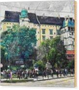 Cracow Art 2 Wawel Wood Print