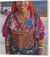 Craft Vendor In Panama City, Panama Wood Print