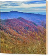 Craggy Ridge Wood Print