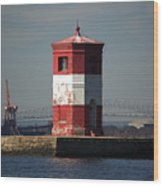 Craighill Channel Upper Range Front Light Wood Print