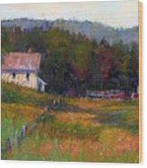 Crammond Farm Wood Print
