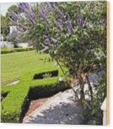 Crane Cottage Garden In Spring Wood Print