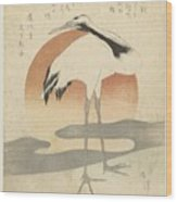 Crane For The First Sunrise Of The Year, Totoya Hokkei, C. 1821 Wood Print