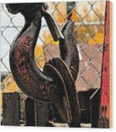 Crane Hook Wood Print