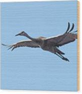 Crane Wood Print