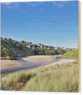 Crantock And The Gannel Wood Print