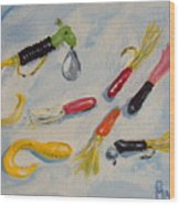 Crappie Lures Wood Print