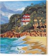 Crash Boat Beach Wood Print by Milagros Palmieri