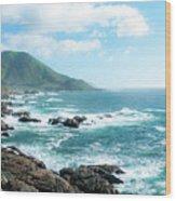 Crashing Coast Wood Print