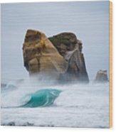 Crashing Wave Wood Print by Cesar Marino