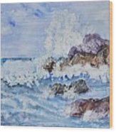 Crashing Wave IIi Wood Print