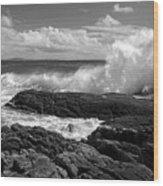 Crashing Wave Roundstone Ireland Wood Print