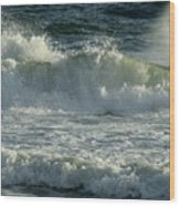 Crashing Wave Wood Print by Sandy Keeton