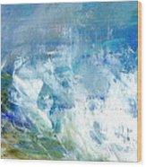 Crashing Waves Against The Shore Wood Print
