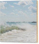 Crashing Waves Wood Print