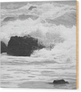 Crashing Waves Wood Print