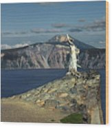 Crater Lake - A Most Sacred Place Among The Indians Of Southern Oregon Wood Print by Christine Till