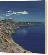 Crater Lake A Caldera Lake  Wood Print