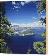 Crater Lake Wood Print by Allan Seiden - Printscapes