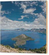Crater Lake From Watchman Overlook Wood Print