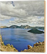 Crater Lake I Wood Print