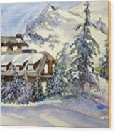 Crater Lake Lodge - Closed For Winter    Wood Print