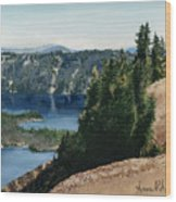 Crater Lake Oregon Wood Print