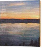 Crater Lake Sunrise Wood Print