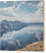 Crater Lake With A View Of The Phantom Ship Wood Print