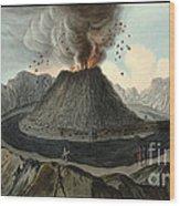 Crater Of Mount Vesuvius, Before 1767 Wood Print