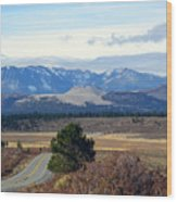 Crater Road California Wood Print