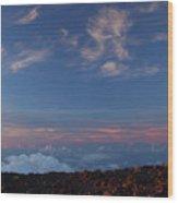 Crater Sunset Wood Print