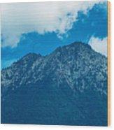 Crater Volcan De Agua Wood Print