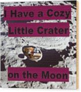 Crater11 Wood Print