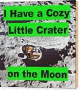 Crater19 Wood Print
