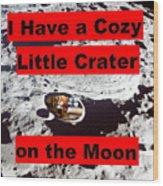 Crater2 Wood Print