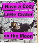 Crater23 Wood Print