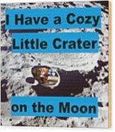 Crater30 Wood Print